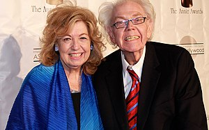 Stan Freberg - Freberg with his second wife at the Annual Annie Awards, 2014