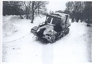 Motorized infantry - Cold War era (1975) Snow Trac on patrol in Norway
