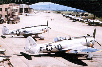 185th Air Refueling Squadron - 506th Fighter Squadron - P-47 Thunderbolts Photo likely taken at Kelz Airfield (Y-54) or Fritzlar Airfield (Y-86), Germany, spring 1945