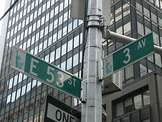 "Ramones (album) - Street signs at the intersection of East 53rd Street and Third Avenue in Midtown Manhattan. The song ""53rd and 3rd"" is based on the street's reputation for male prostitution."