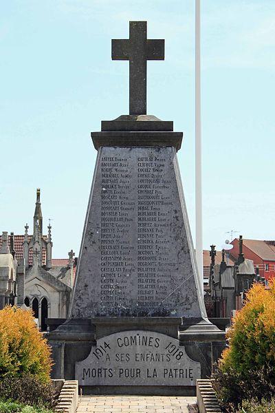 Monument aux Morts - Cimetière Nord, rue du Bas-Chemin, 59 Comines