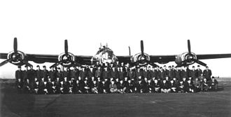 55th Space Weather Squadron - Members of the 655th Bombardment Squadron, Heavy, Weather Reconnaissance. This photo was taken during training at Will Rogers Field, Oklahoma in 1944