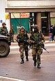 990701-M-5696S-016 - U.S. Marines from 3rd Battalion, 8th Marine Regiment patrol the streets of Gnjilane, Kosovo.jpg