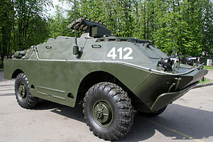 9M113 Konkurs - 9P148 launching vehicle on BRDM-2 base for 9M113 Konkurs