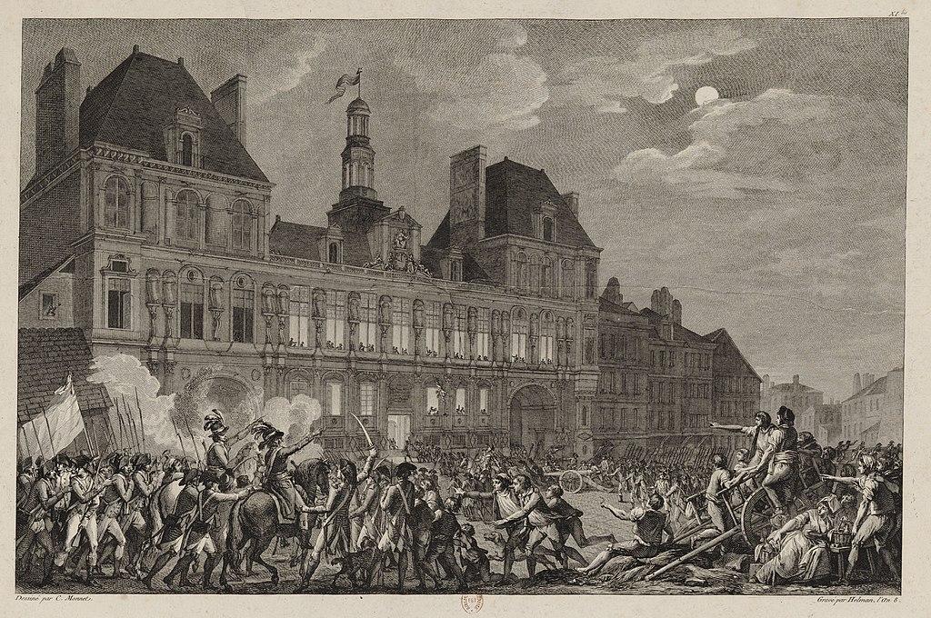 Las fuerzas de la Convención llegan a la plaza frente al Hôtel-de-Ville hacia las dos de la madrugada.