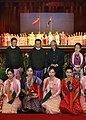 A.P.J. Abdul Kalam and the Senior General Than Shwe with the cultural troupe who gave a performance before the visiting dignitary at the Parliament Building in Yangon.jpg