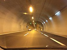 A1 Motorway tunnel near Agios Konstantinos