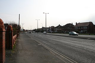 A583 road road in England
