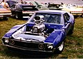 AMC Javelin customized blue hardtop with supercharged AMC V8.jpg