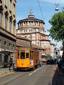 Corso Magenta, with the church of Santa Maria delle Grazie in the background