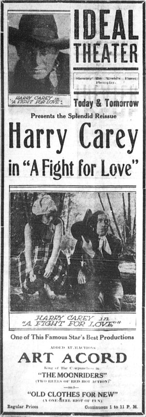 A Fight for Love - Newspaper advertisement