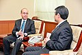 A S Russel meets with ROK 1st Vice FM Cho Tae-yong (16839525185).jpg