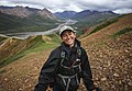 A cheerful hiker on Cathedral Mountain on July 26, 2019. (235759bd-1d42-443f-81da-cd06567da44b).JPG