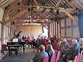 A concert inside the Great Barn, Hellens - geograph.org.uk - 1741223.jpg