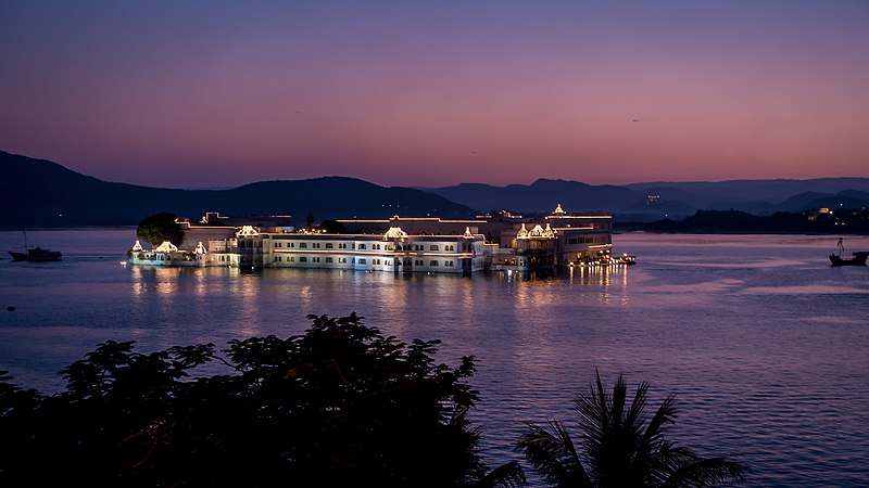 File:A dusk view of Lake Palace Udaipur Rajasthan India.jpg