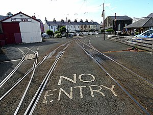 Ramsey railway station (MER) - Image: A general view of the terminus at Ramsey (geograph 5046222)