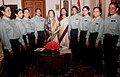 A group of women from 'Tejaswinis' Group of Tata Steel Company with the President of India, Smt. Pratibha Devisingh Patil.jpg