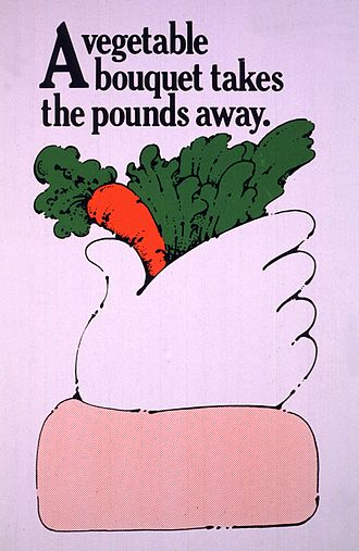 Vegetable bouquet - An advertisement by the U.S. National Institutes of Health
