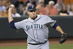 Aaron Harang - Harang playing for the Seattle Mariners in 2013