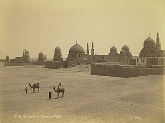City of the Dead (Cairo) - Sahara, a cemetery to the north for Mamluk Sultans, circa 1860.
