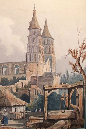 Jumièges Abbey - Jumièges Abbey, as painted by John Sell Cotman in 1818