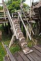 Aboriginal Sarawak log stairs (29616978835).jpg