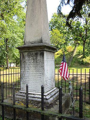 Abraham Whipple - Abraham Whipple marker at Mound Cemetery, Marietta, Ohio