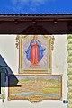 Achenkirch - Loinger Salzstadel - Fassadenmalerei Maria Immaculata und alte Stadtansicht von Hall.jpg