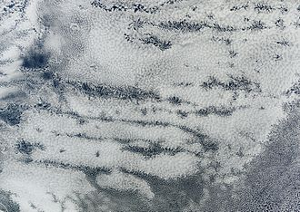 Actinoform cloud - Actinoform clouds seen as from Space