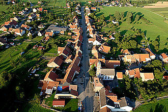Adamswiller - An aerial view of Adamswiller