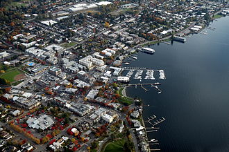Kirkland, Washington - Image: Aerial Kirkland Washington November 2011