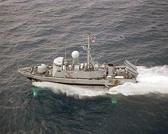 USS Aquila (PHM-4) - Image: Aerial port beam view of USS Aquila (PHM 4) underway US Navy DN SC 87 07089