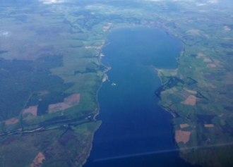 Loch Ryan - Aerial view of Loch Ryan.