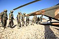 Afghan National Army soldiers with the 215th Corps board an Mi-17 helicopter during a training exercise at Camp Shorabak, Helmand province, Afghanistan, Feb. 19, 2014 140219-M-PF875-008.jpg