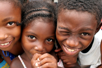 Colombians - Afro-Colombian children.
