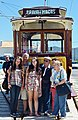 After a trip Sintra-Praia das Maçãs in an Electrical tram the family poses to the photographer (48840842833).jpg