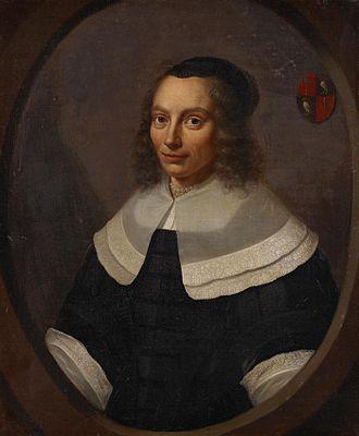 Jacob Dircksz de Graeff - Portrait of Jacobs daughter Agneta de Graeff van Polsbroek, the mother-in-law of Johan de Witt