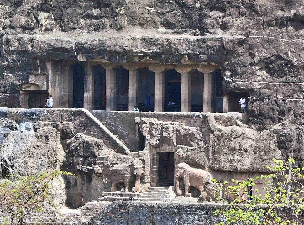 Ajanta Cave 16 Outside view