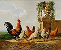Albertus Verhoesen Chickens and park vase.jpg