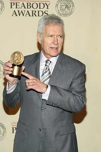 Alex Trebek - Alex Trebek was proud of the Peabody Award received by Jeopardy in 2012