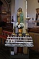 All Hallows Church Tottenham Haringey England - Madonna and Child votive candles.jpg