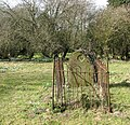All Saints church in Snetterton - old fenced off grave - geograph.org.uk - 1762872.jpg