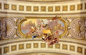Daniel Gran -  Prunksaal: allegory of war and law. Ceiling painting made by Daniel Gran (1694-1757) finished in 1730.