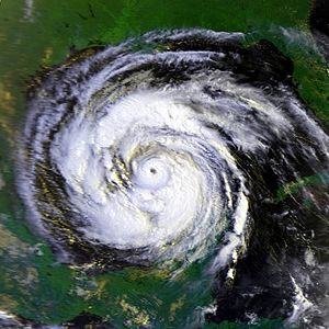 Hurricane Allen - Hurricane Allen in the Gulf of Mexico on August 8, 1980.