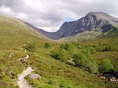 Path to the CIC Hut alongside the Allt a' Mhuilinn.