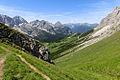 Alpen Wettersteingebirge Felderer Joch Aufstieg.jpg