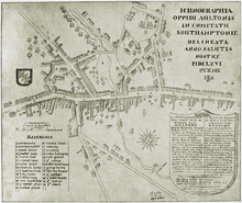 Map of Alton (1666)