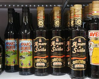 Amaro (liqueur) - bottles of Amaro Edelweiss and Amaro di Sicilia
