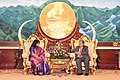 Ambassador Samina Naz having a call on with Laotian President.jpg