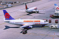 America West Airlines Boeing 737-112; N708AW@PHX, April 1997 BWX (5478742896).jpg